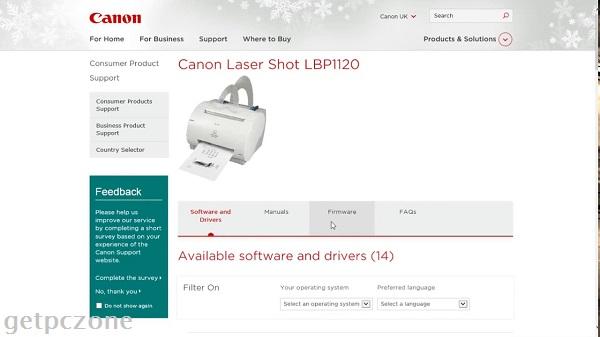 Canon LASER SHOT LBP 1120 Driver Download 32-64bit