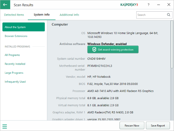 Kaspersky System Checker Download 32-64Bit