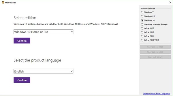 MS Windows ISO Downloader 7.11 Download 32-64Bit