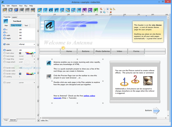Antenna Web Design Studio 6.6 Download