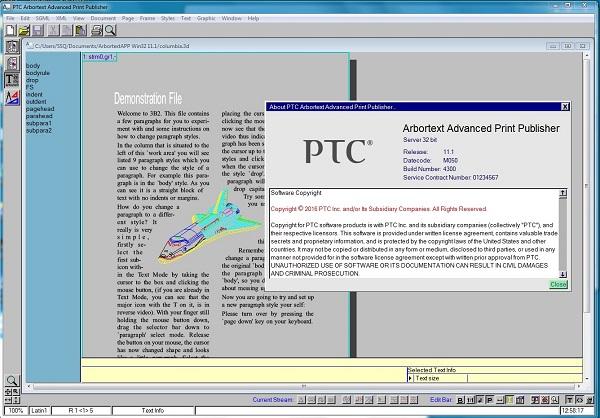 PTC arbortext editorAdvanced Print Publisher 11.2 M040 Download