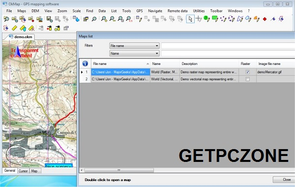 Download OkMap Desktop 14.11.0 Multilingual