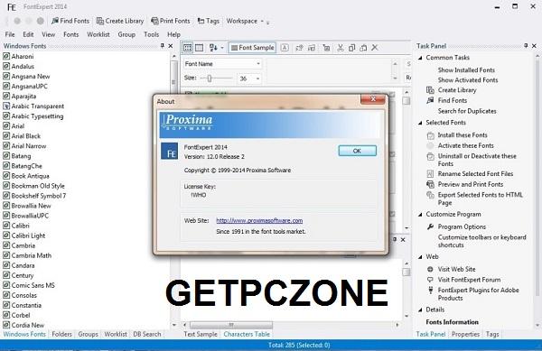 FontExpert 17.0 Free Download