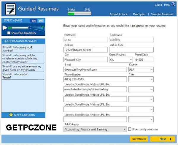Free Download ResumeMaker Pro Deluxe 20.1.2 Direct 32-64 Bit