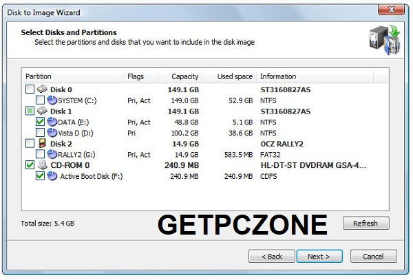 Active@ Disk Image bootable ISO