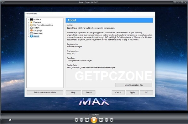 Zoom Player MAX 15 Download