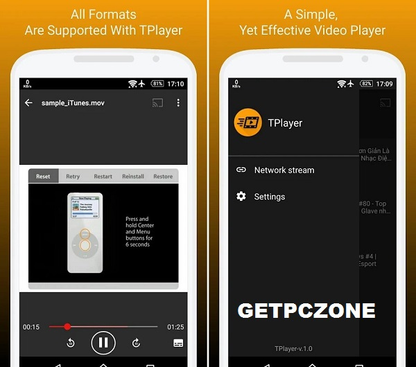 Download TPlayer - All Format Video Player For Android