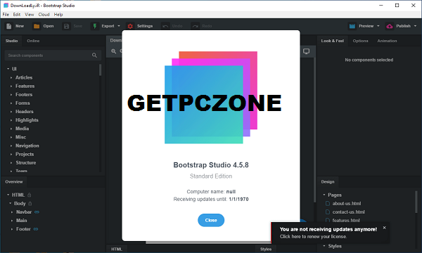 Bootstrap Studio 5.6 Download 32-64 bit